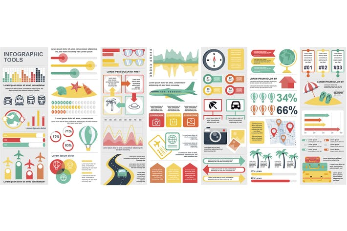 Travel Vacation Infographics Design Template