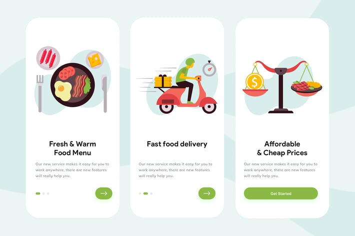 Thumbnail for Food-Apps Onboarding Illustration