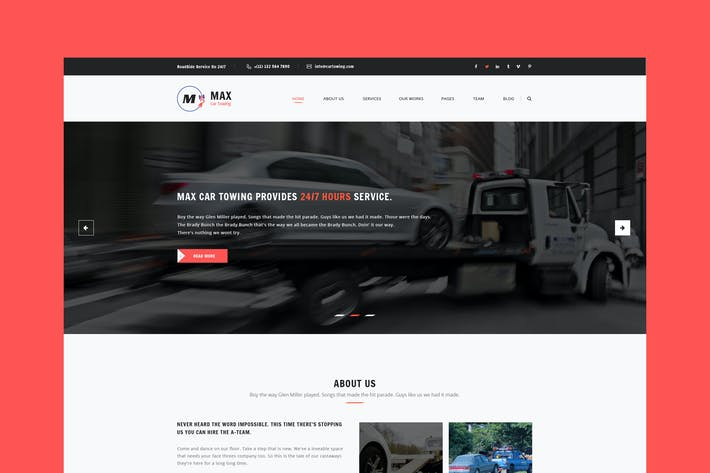 Thumbnail for Car Towing PSD Template