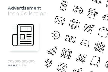 Advertisement Outline Icon