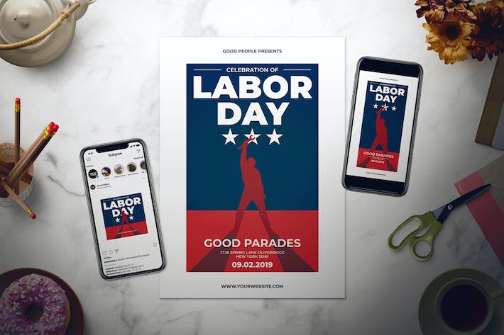 Thumbnail for Labor Day Celebration Flyer Set