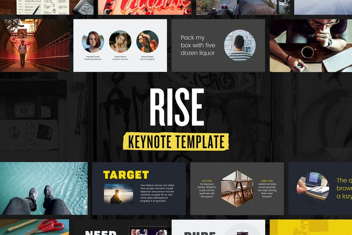Thumbnail for Rise — Keynote Presentation Template