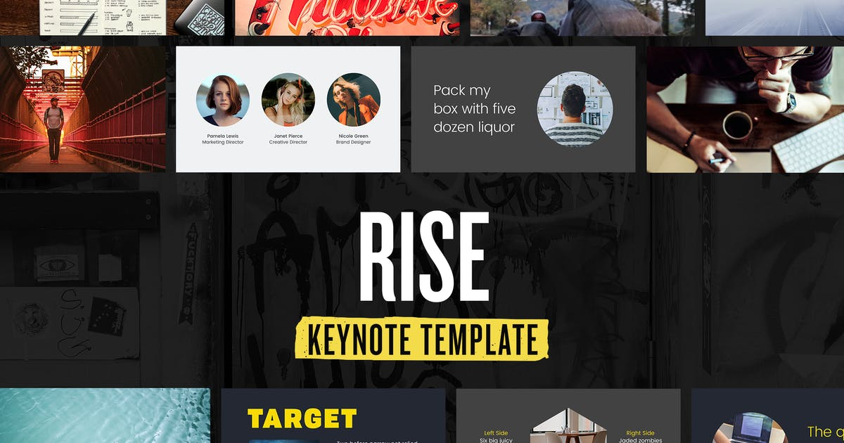 Download Rise — Keynote Presentation Template by furnace