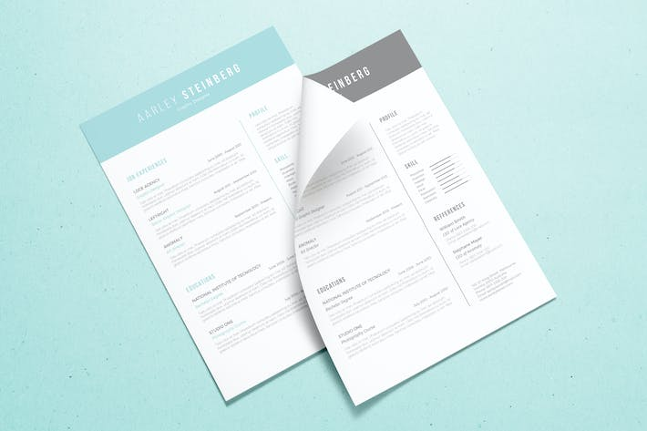 Thumbnail for Minimalist Resume 05