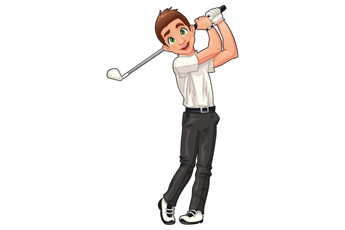 Cover Image For Golf player