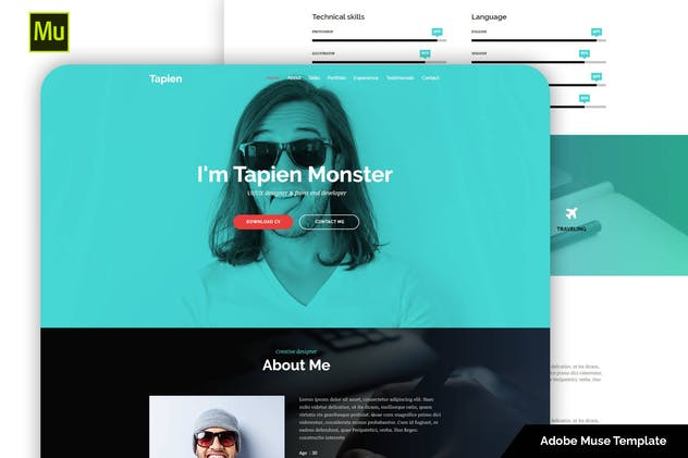 Tapien - CV Resume Personal and Portfolio