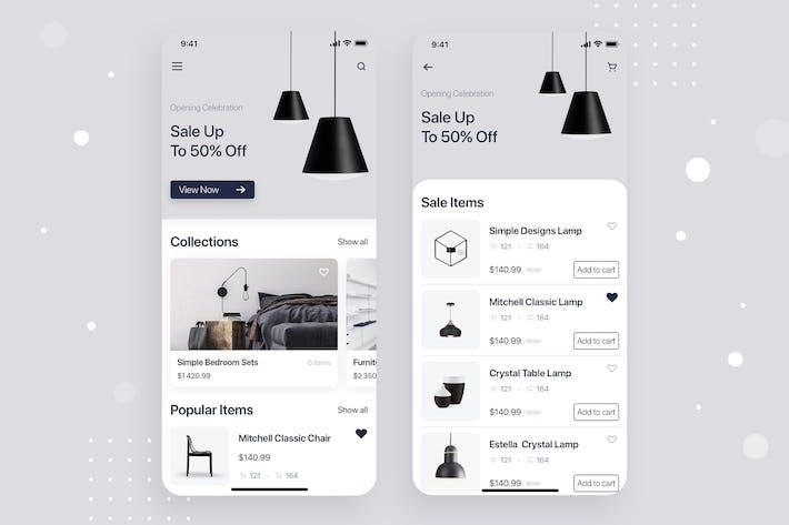 Thumbnail for Mobiliar Shop Mobile App Konzept