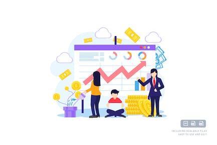 Geschäftsinvestitionen - Vorlage für Ilustration
