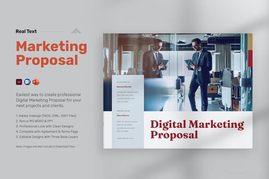 Digital Marketing Proposal Landscape - Real Text