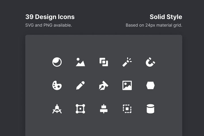 Design Icons - Solid Style