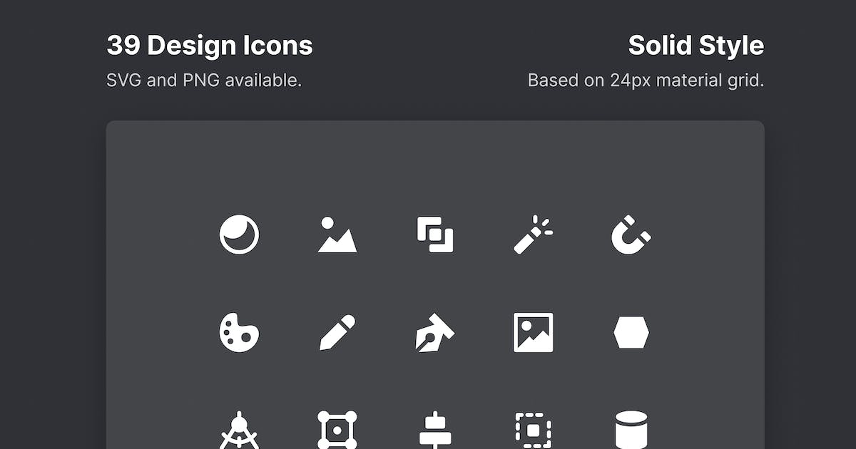Download Design Icons - Solid Style by roywj