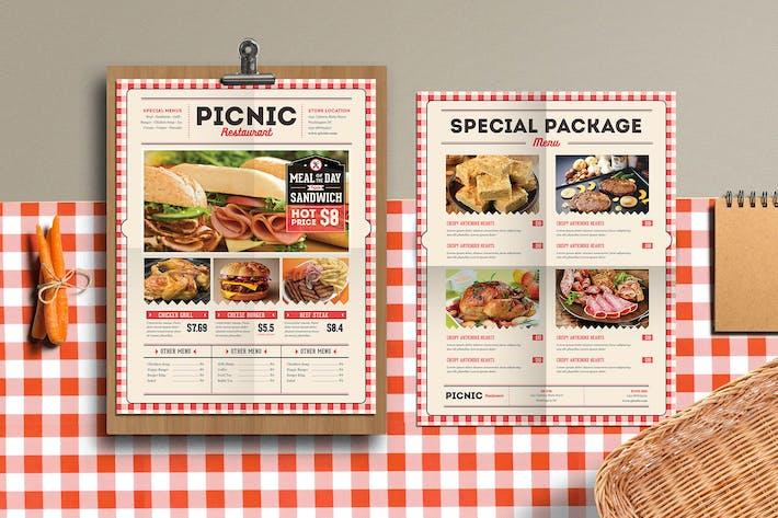 Thumbnail for Retro Picnic Food Flyer/Menu