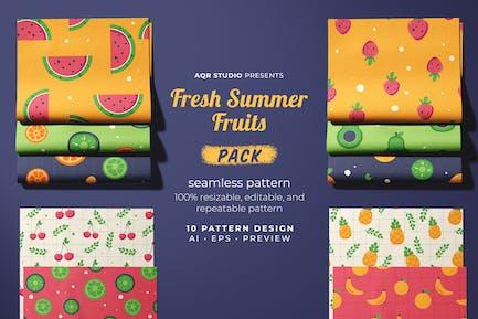 Frische Sommerfrüchte - Nahtloses Muster