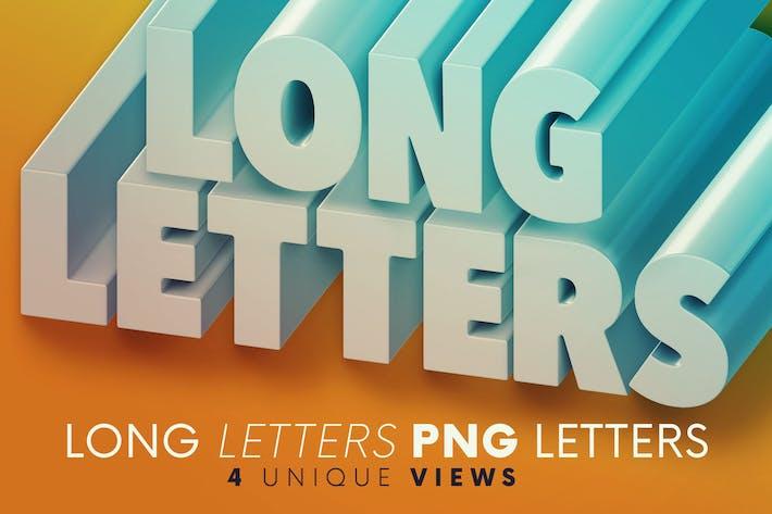 Long Letters - 3D Lettering