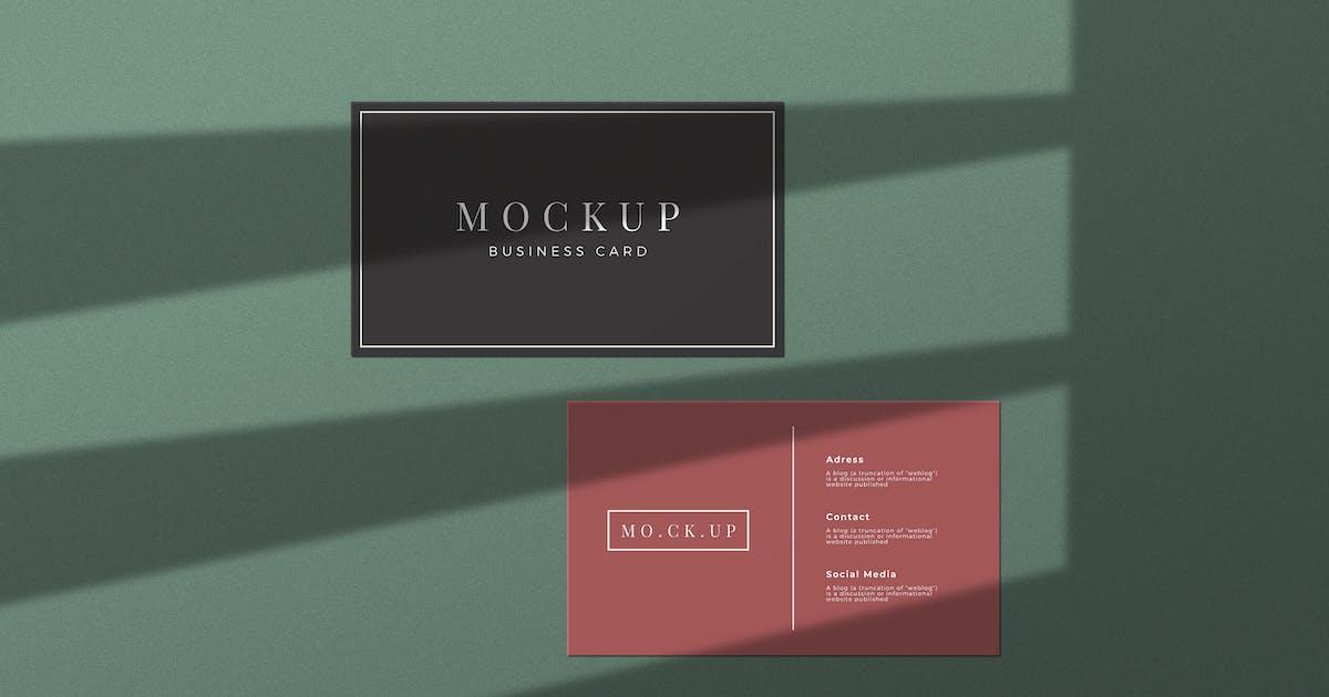 Download Simple Business Card Mockup by sagesmask