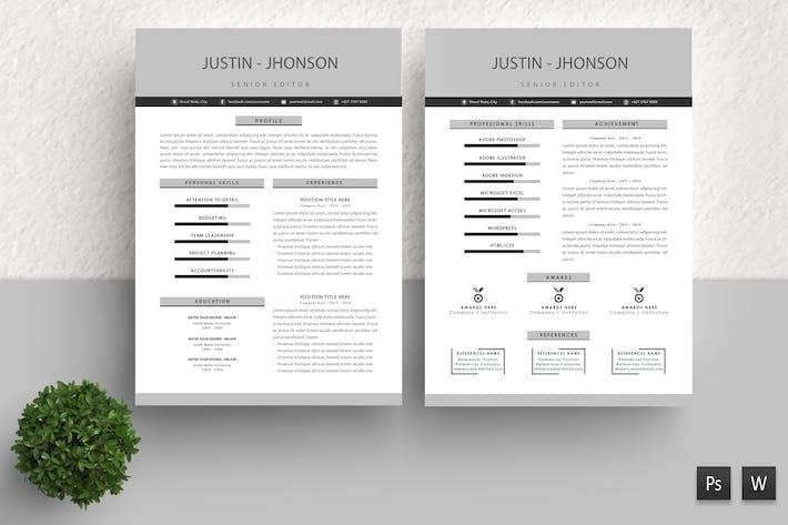 Thumbnail for Creative Resume Template Justin Jhonson