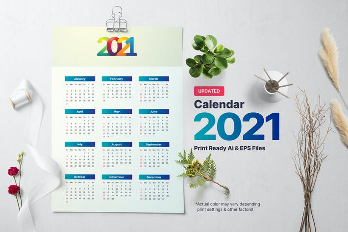 Thumbnail for Calendrier Simple 2021