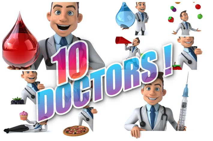 Thumbnail for 10 fun cartoon Doctors !