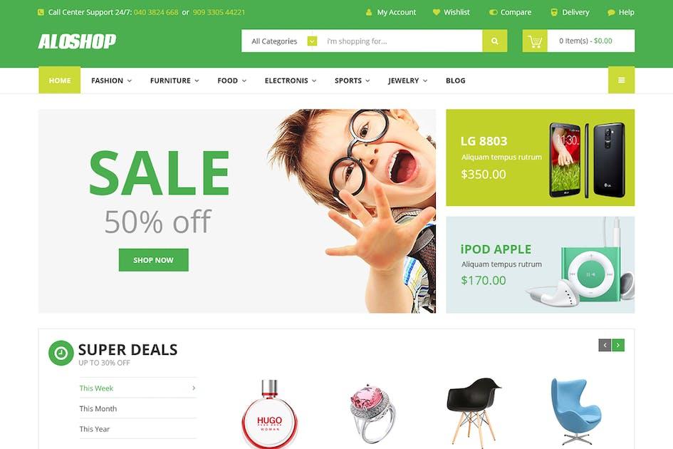 Download Alo Shop - Super Market Responsive Magento2 Theme by 7uptheme