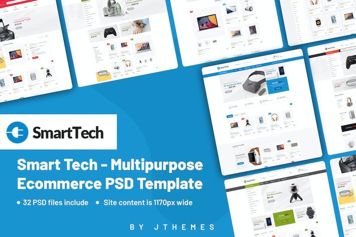 Thumbnail for Smart Tech - Multipurpose Ecommerce PSD Template