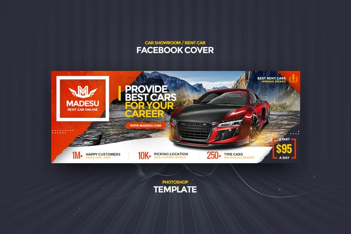 Thumbnail for Rent Car / Showroom Facebook Cover Template