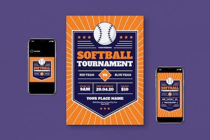Softball Tournament Flyer Set