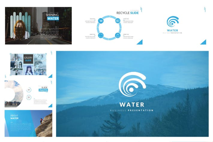 Cover Image For Water Business Template