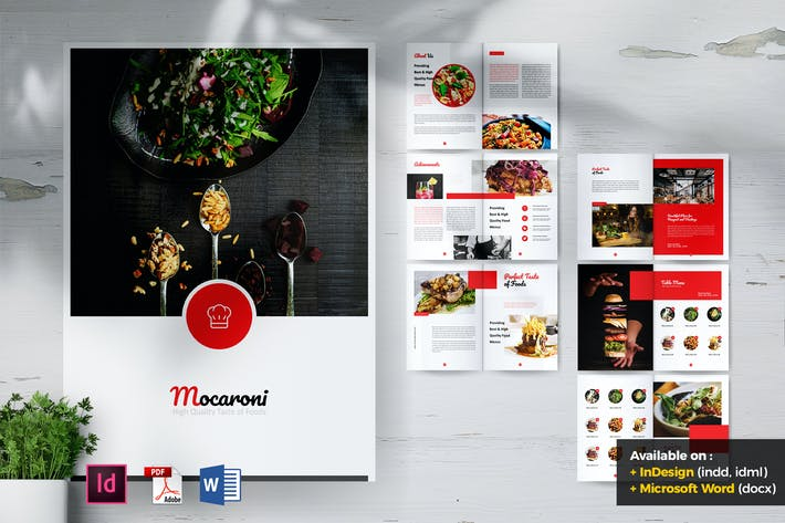 Thumbnail for MOCARONI Restaurant & Food Brochures