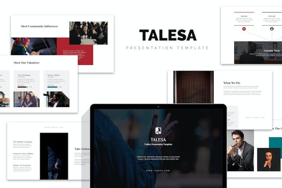 Talesa : Political Campaign Google Slides