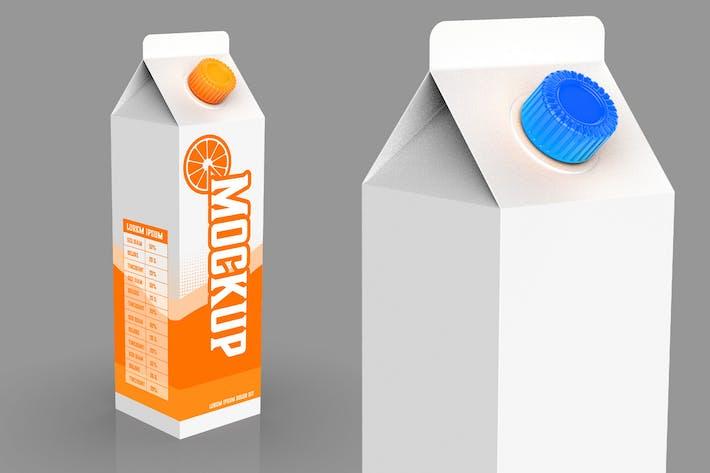 Liter-Karton-Mockup