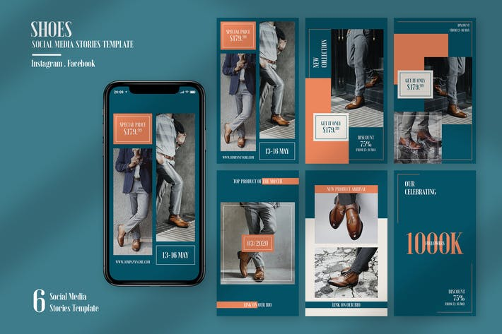Thumbnail for Shoes Instagram Stories Template