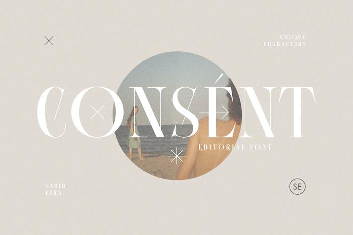 Thumbnail for Consentimiento - Fuente Editorial Con serifa