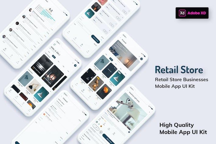 Thumbnail for Version légère de Appli mobile de magasin de détail (XD)