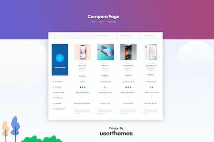 Products Comparison Page Design