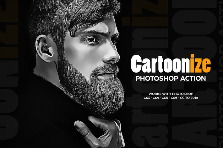 Thumbnail for Cartoonize Photoshop Action
