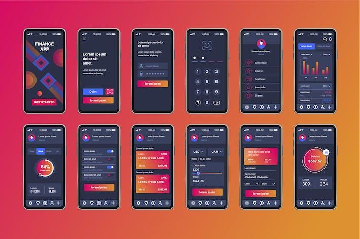 Thumbnail for Finance Services Unique Mobile App UI Kit