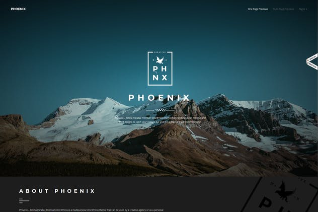 Phoenix - WordPress Minimal Multipurpose Portfolio