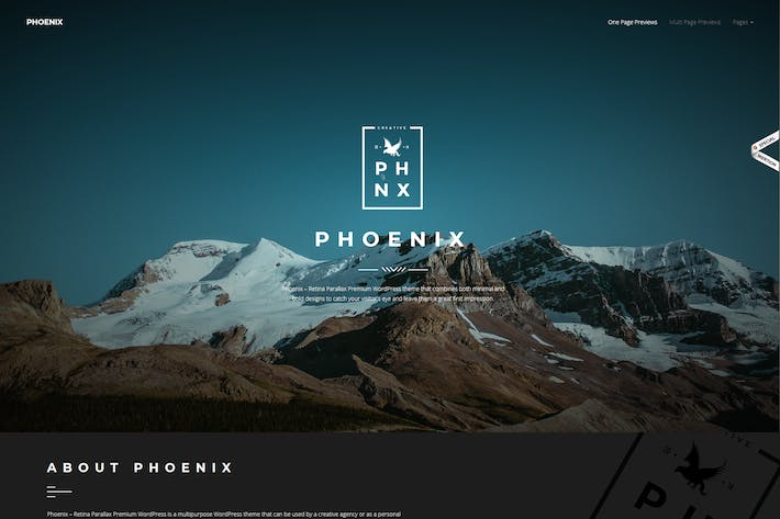 Thumbnail for Phoenix - WordPress Minimal Multipurpose Portfolio