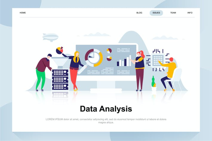 Thumbnail for Data Analysis Flat Concept