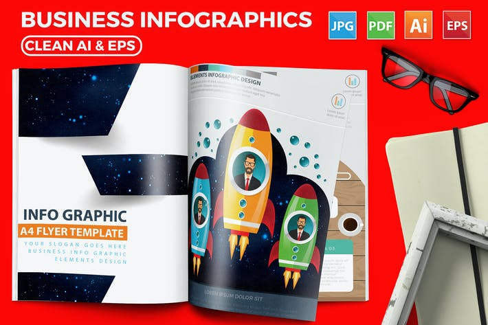 Thumbnail for Modern Business Infographics 17 Pages Design
