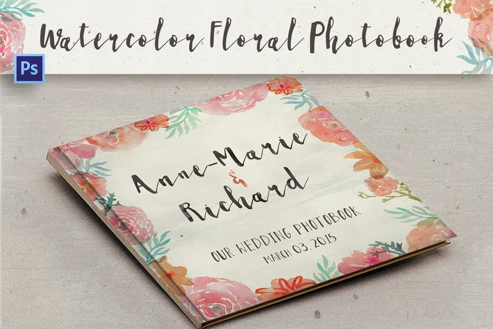 Thumbnail for Watercolor Floral Photobook