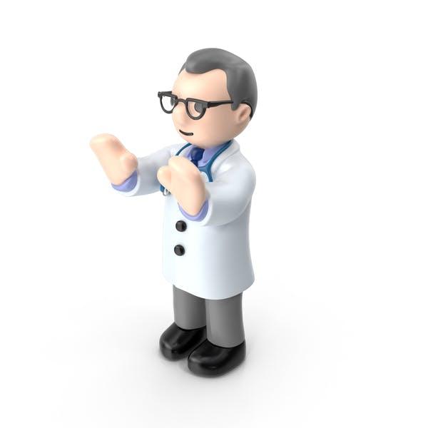 Cartoon Arzt Hände nach vorne