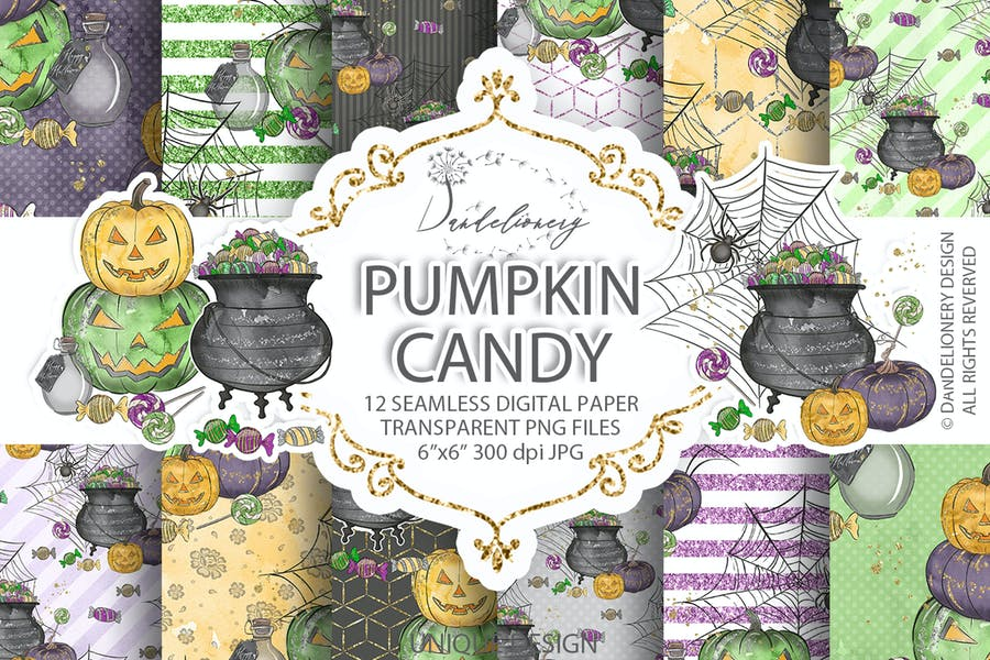 Cute Halloween digital paper