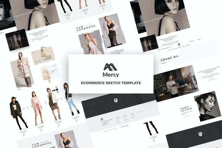 Thumbnail for Mercy - Ecommerce Sketch Template