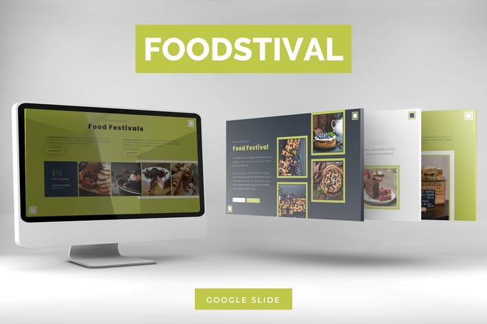 Thumbnail for Foodstival - Google Slides Template