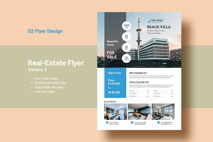 Thumbnail for Real-Estate Flyer Template V-2