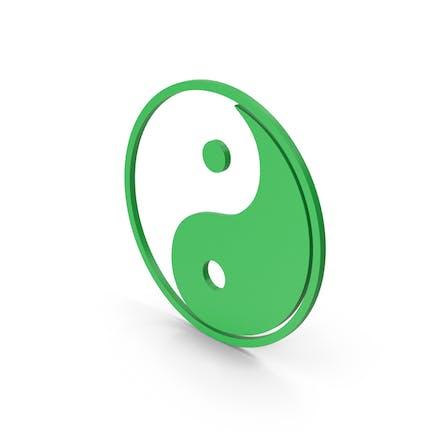 Symbol Yin Yang Green