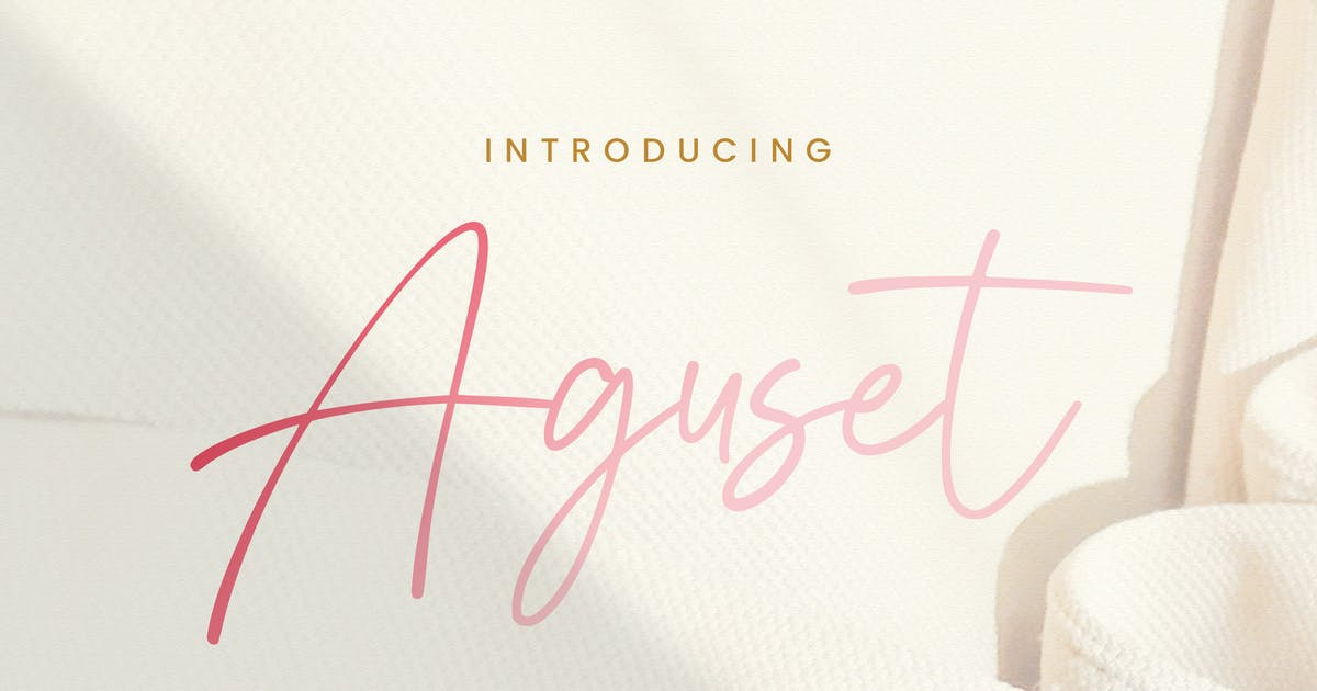 Download Aguset - Handwritten Font by StringLabs