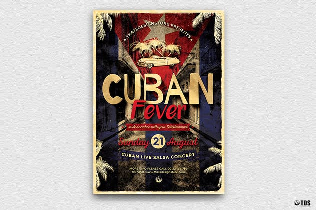 Cuban Fever Flyer Template