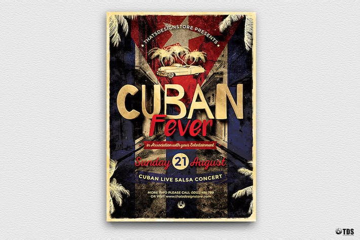Thumbnail for Cuban Fever Flyer Template